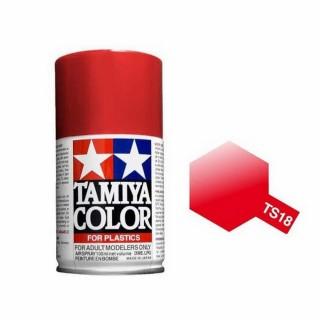 Rouge Métal Brillant Spray de 100ml-TAMIYA TS18