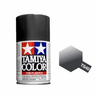 Noir métal Brillant Spray de 100ml-TAMIYA TS40
