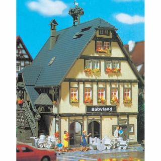 Maison de ville avec commerce enfant maquette à monter -N-1/160-VOLLMER 47661