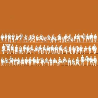 72 figurines assises à peindre pour voiture ou autre-HO-1/87-PREISER 16358
