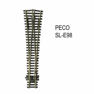 Streamline aiguillage symétrique 220mm electrofrog code 100-HO-1/87-PECO SL-E98