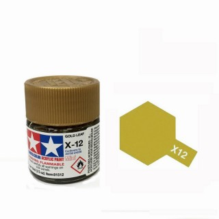 Or métallisé brillant pot de 10ml-TAMIYA X12 81512