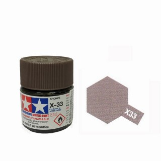 Bronze brillant pot de 10ml-TAMIYA X33