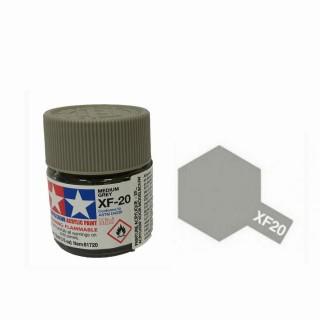 Gris Moyen mat pot de 10ml-TAMIYA XF20