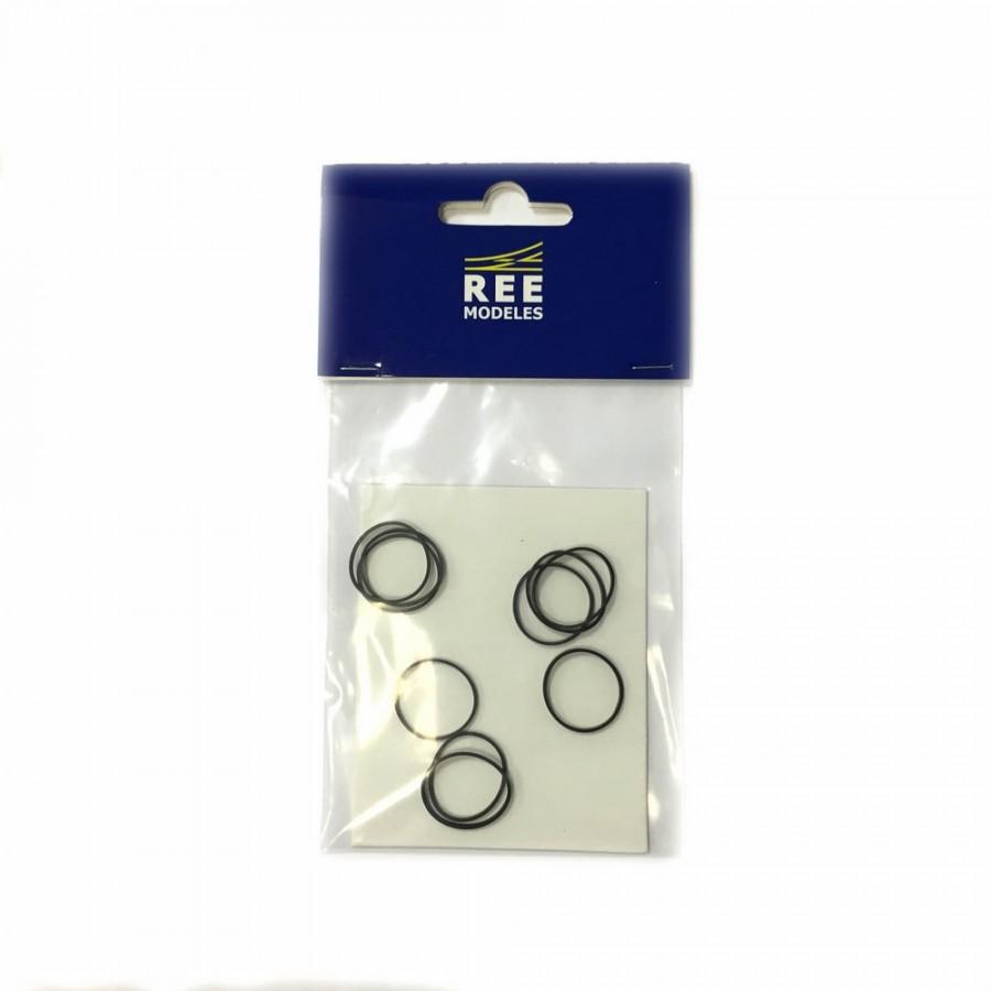 10 bandages de roue pour vapeur 231ex-PLM-HO-1/87 REE XB510