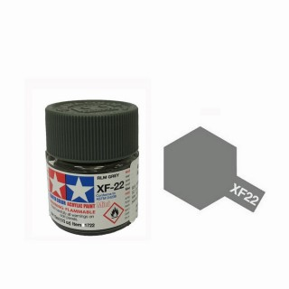 Gris RLM mat pot de 10ml-TAMIYA XF22