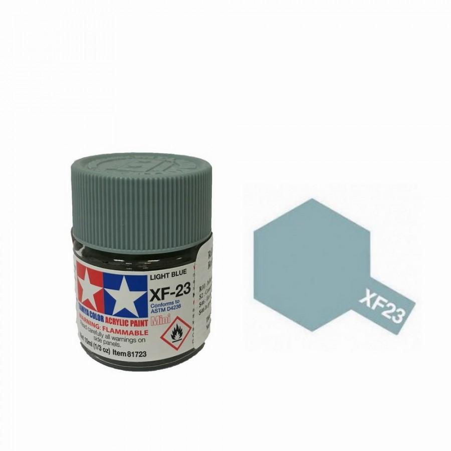 Bleu clair mat pot de 10ml tamiya xf23 - Peinture bleu clair ...