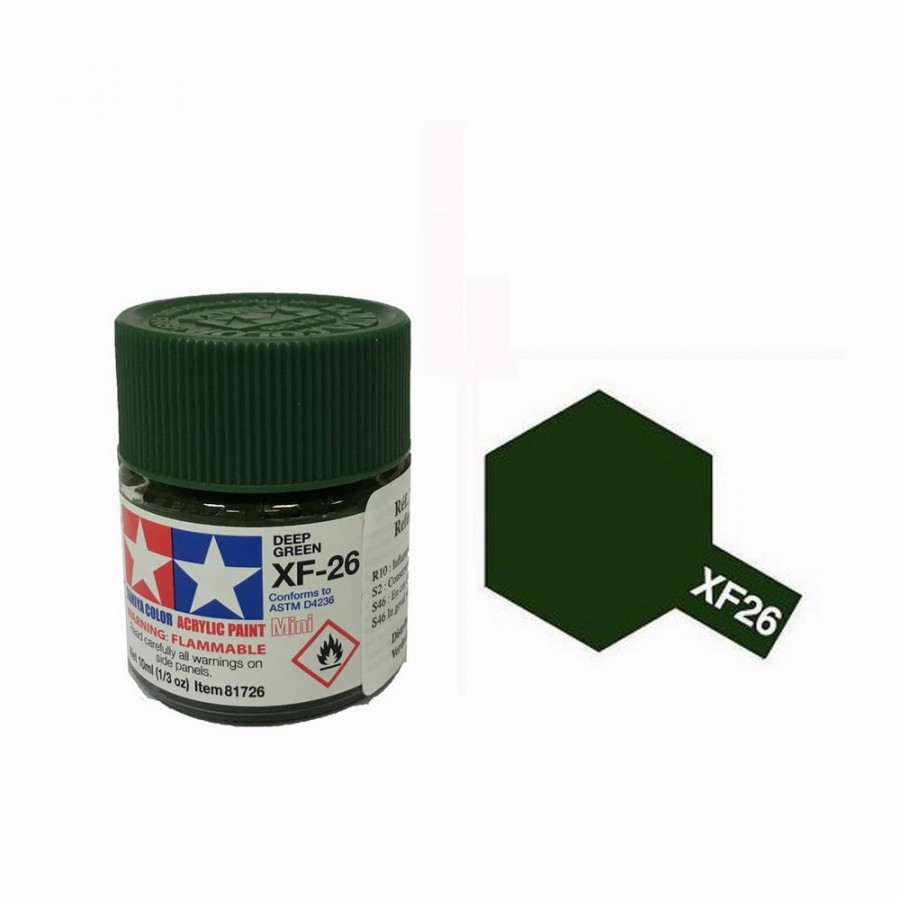 Vert Foncé mat pot de 10ml-TAMIYA XF26