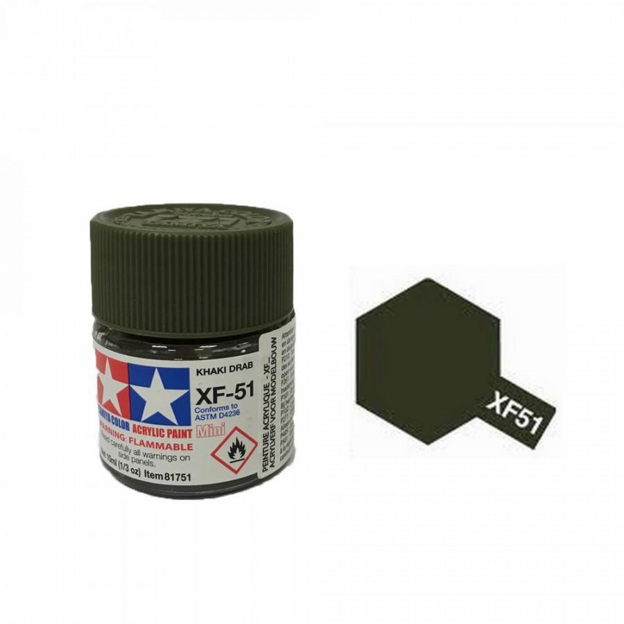 Vert Kaki mat pot de 10ml-TAMIYA XF51