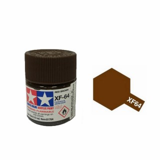 Rouge Brun mat pot de 10ml-TAMIYA XF64