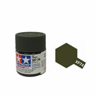 Olive Drab JGSDF mat pot de 10ml-TAMIYA XF74
