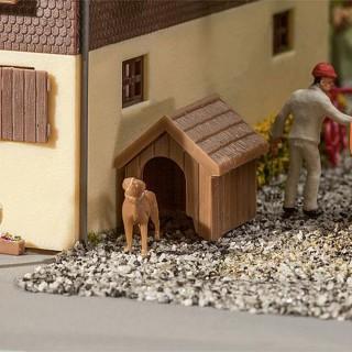 Niche de jardin avec chien maquette à monter-HO-1/87-FALLER 180939