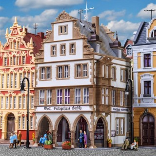 Maison de ville avec arcades et magasin -HO-1/87-KIBRI 38382
