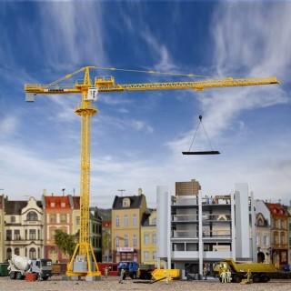 Grue de chantier fixe Liebherr pour la construction-HO-1/87-KIBRI 10202