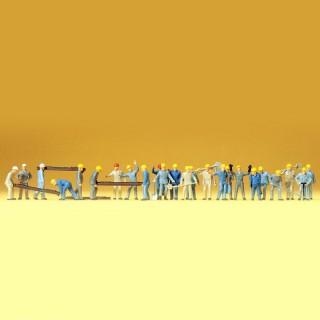 24 figurines pour la maintenance des voies HO-1/87-PREISER 14403
