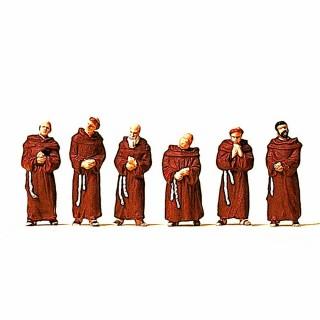 6 moines franciscains pour vos dioramas HO-1/87-PREISER 10198