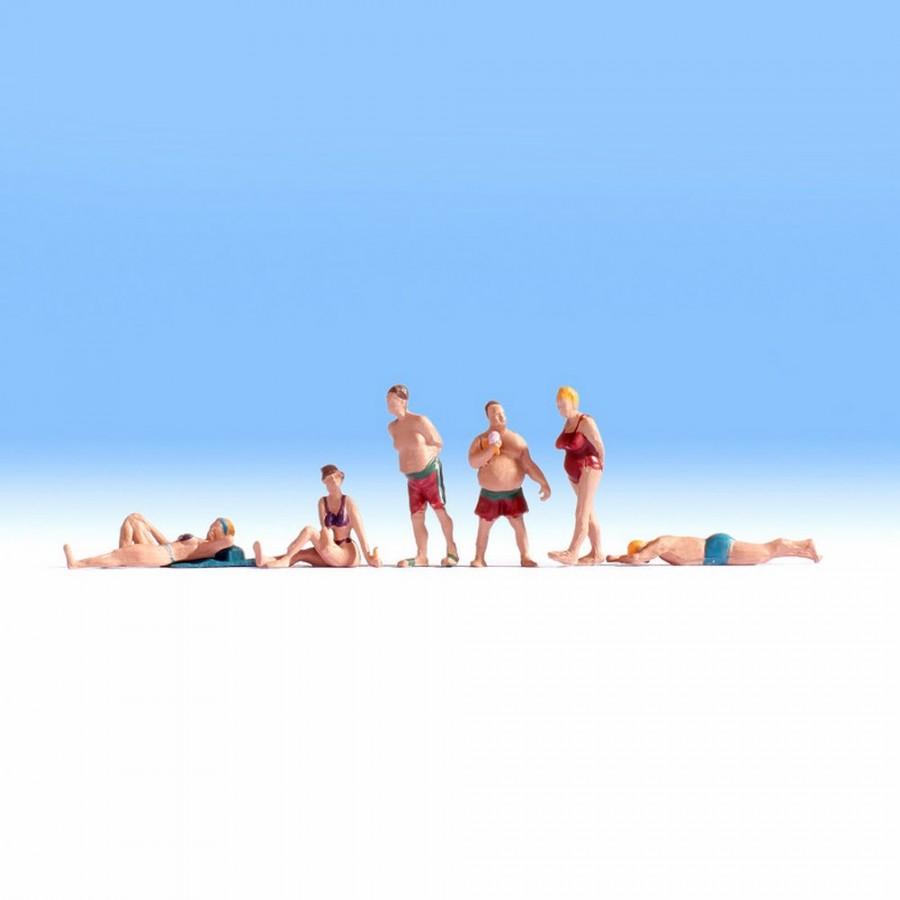 6 figurines à la plage pour votre diorama-HO-1/87-1/87-NOCH 15841