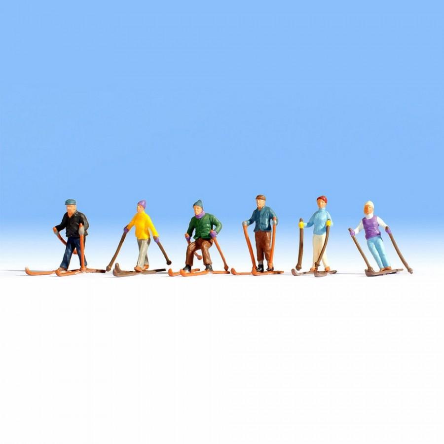 6 skieurs pour votre diorama-HO-1/87-1/87-NOCH 15828