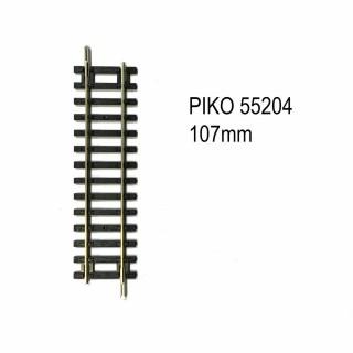 Rail droite 107mm code 100 -HO-1/87-PIKO 55204