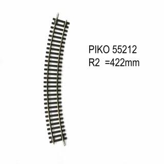 Rail courbe R2 422mm 30 degrés code 100 -HO-1/87-PIKO 55212