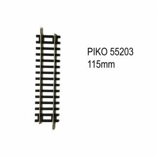 Rail droite 115mm code 100 -HO-1/87-PIKO 55203