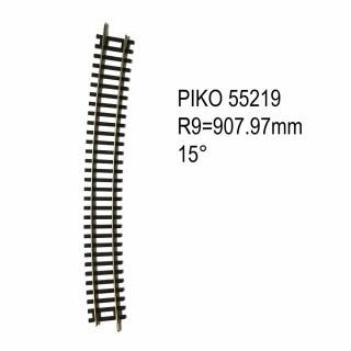 Rail courbe R9 907.97mm 15 degrés code 100 -HO-1/87-PIKO 55219