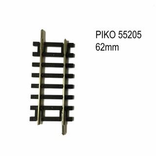 Rail droit 62mm code 100 -HO-1/87-PIKO 55205