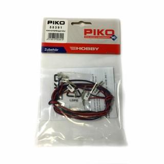2 rallonges d'alimentation éclisses et 8 éclisses isolantes-HO-1/87-PIKO 55391