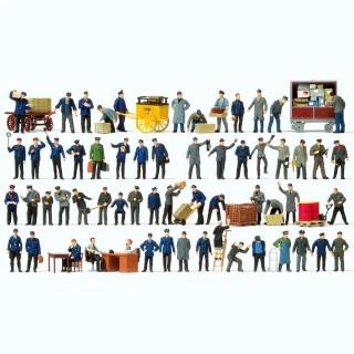 60 personnels des chemin de fer, d'entrepot et bureau HO-1/87-PREISER 13004