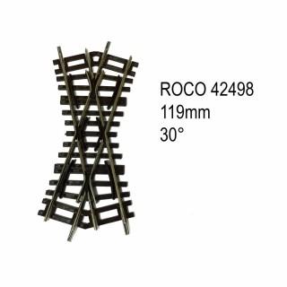 Rail croisement 119mm 30 degrés code 83 -HO-1/87-ROCO 42498