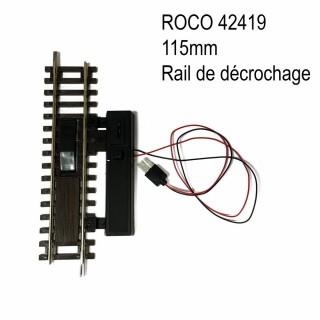 Rail de dételage électrique 115mm code 83 -HO-1/87-ROCO 42419