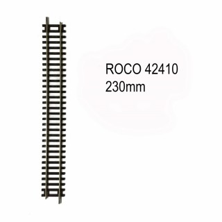 Rail droite 230mm code 83 -HO-1/87-ROCO 42410