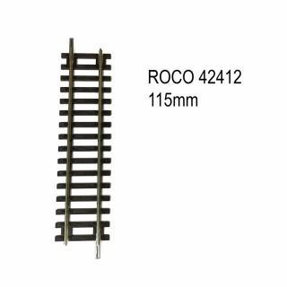 Rail droite 115mm code 83 -HO-1/87-ROCO 42412