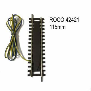 Rail d'alimentation avec antiparasitaire analogique code 83 -HO-1/87-ROCO 42421