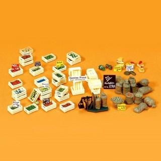 Cageots de fruits, légumes et accessoires HO-1/87-PREISER 17501