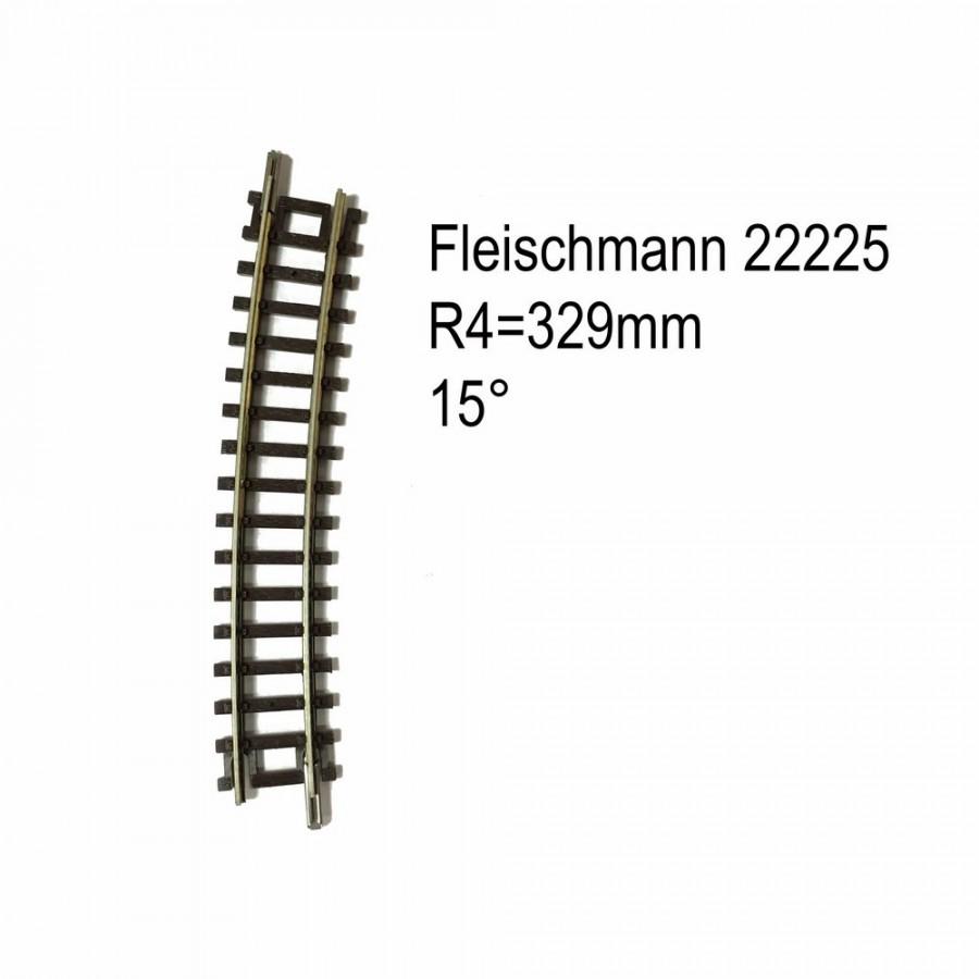 Rail courbe R4 329mm 15 degrés-N-1/160-FLEISCHMANN 22225