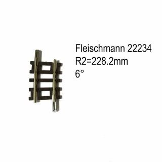 Rail courbe R2  228.2mm 6 degrés-N-1/160-FLEISCHMANN 22234