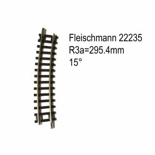 Rail courbe R3a  295.4mm 15 degrés-N-1/160-FLEISCHMANN 22235