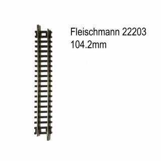 Rail droit 104.2mm-N-1/160-FLEISCHMANN 22203