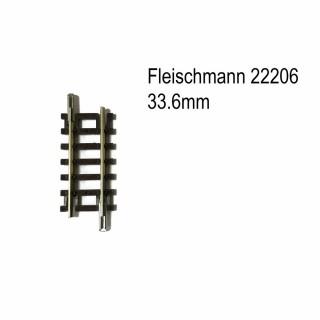 Rail droit 33.6mm-N-1/160-FLEISCHMANN 22206