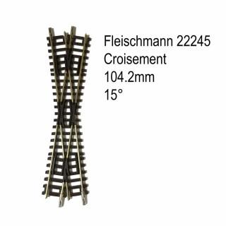 Rail croisement 104.2mm 15 degrés-N-1/160-FLEISCHMANN 22245