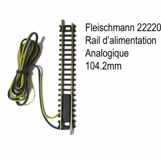 Rail droit 104.2mm d'alimentation analogique-N-1/160-FLEISCHMANN 22220