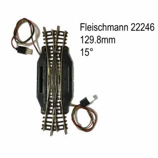 Rail traverse de jonction double électrique-N-1/160-FLEISCHMANN 22246