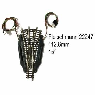 Rail aiguillage triple électrique 112.6mm 15 degrés-N-1/160-FLEISCHMANN 22247