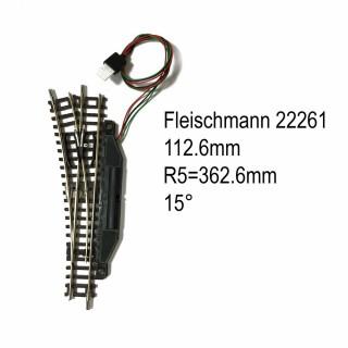 Rail aiguillage droit gauche électrique 112.6mm-N-1/160-FLEISCHMANN 22261
