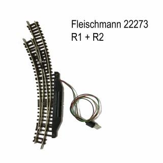 Rail aiguillage courbe gauche électrique R1 et R2-N-1/160-FLEISCHMANN 22273