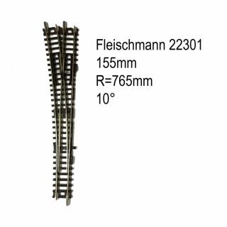 Rail aiguillage droit gauche manuel 155mm-N-1/160-FLEISCHMANN 22301