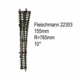 Rail aiguillage droit droit manuel 155mm-N-1/160-FLEISCHMANN 22303