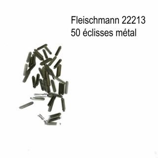 50 éclisses métallique -N-1/160-FLEISCHMANN 22213