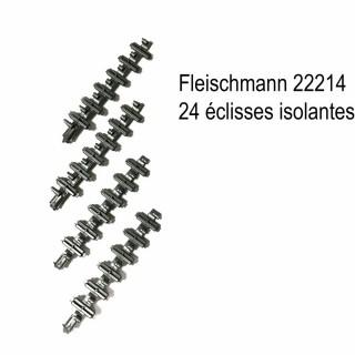 24 éclisses isolantes -N-1/160-FLEISCHMANN 22214